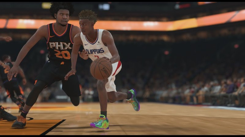 NBA 2K18 My Career 84 Clippers vs Suns Silver Badge