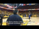 Steph Curry goes 5-for-26 from the logo (MCL rehab) at Oracle Arena, pregame routine before Game 5