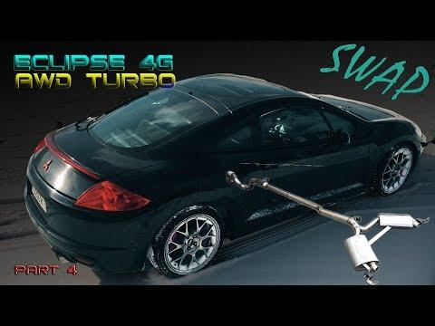 HOW to make TURBO AWD Mitsubishi Eclipse 4G gsX 2.4 4G69 (Part 4/4. Turbo exhaust w Borla mufflers)