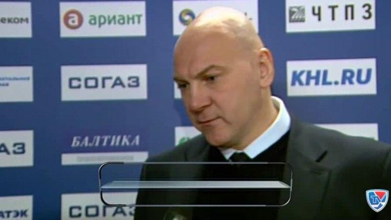 Моменты из матчей КХЛ сезона 14 15 • Интересный момент Интервью даёт Андрей Николишин тренер хоккейной команды Трактор 27 10