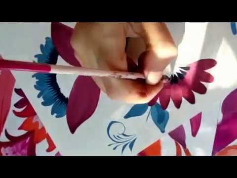 Мастер класс по петриковской росписи Часть 1