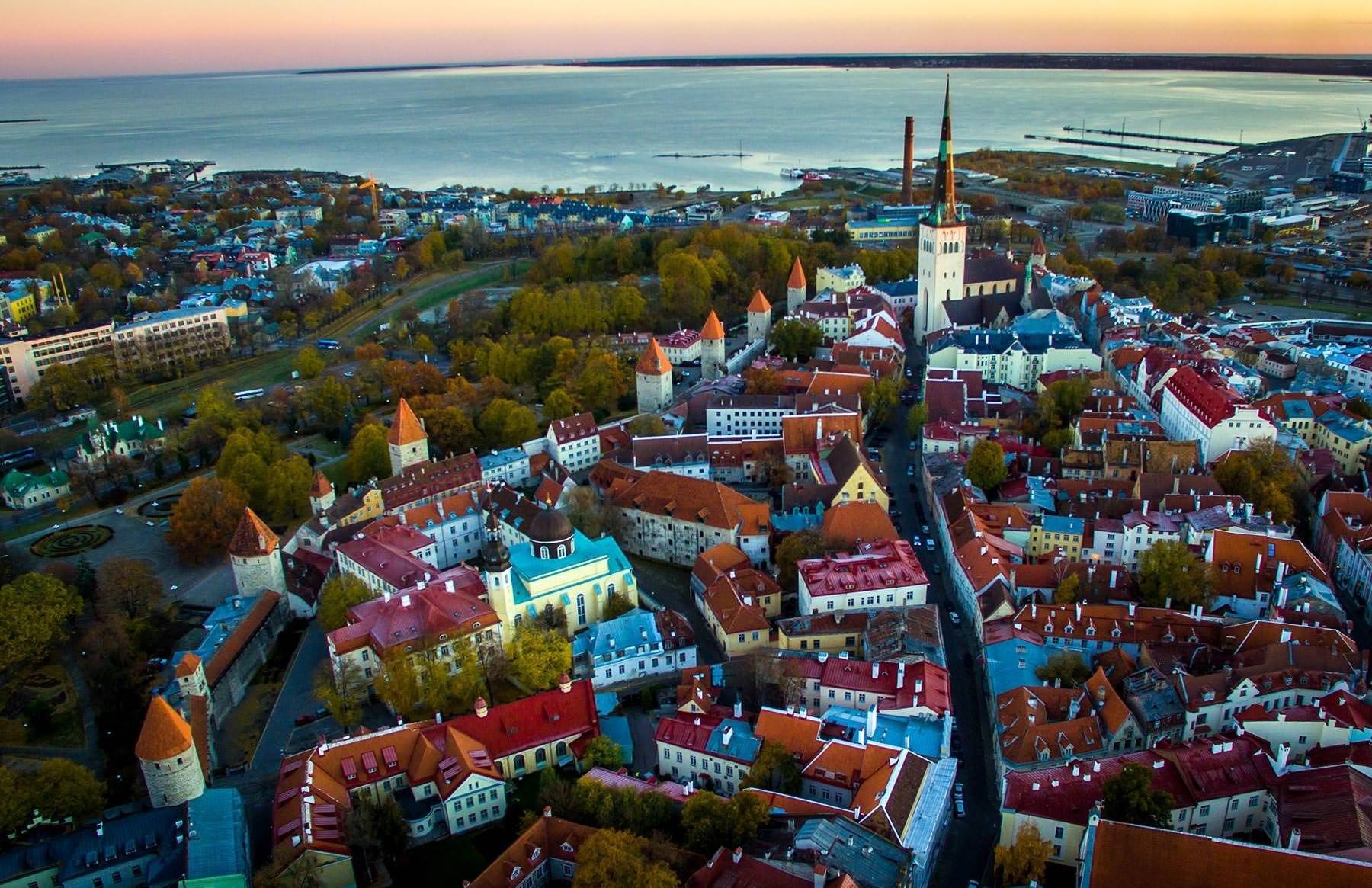Панорамный вид на историческую часть Таллина