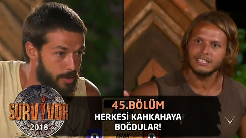 Hilmi Cem ve Murat herkesi kahkahaya boğdu | 45. Bölüm | Survivor 2018