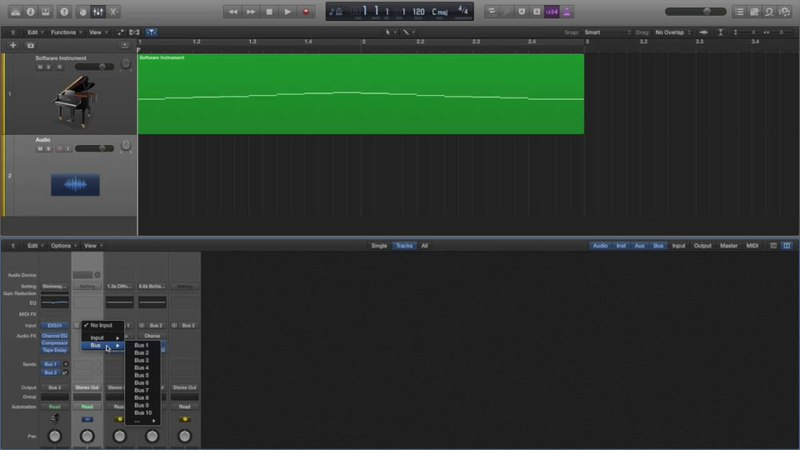 Logic Pro X 7 Record MIDI and the Metronome click track to an Audio Track