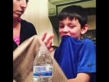 Mom Makes Son Cry After Water Bottle Prank - 986615-2