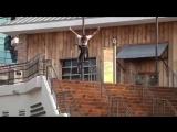 Trey Jones BMX Ноу Хэнд со ступенек