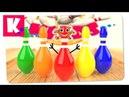 Игра в Боулинг Учим Цвета с Цветными Кеглями и Разноцветными Шарами Multi Kids