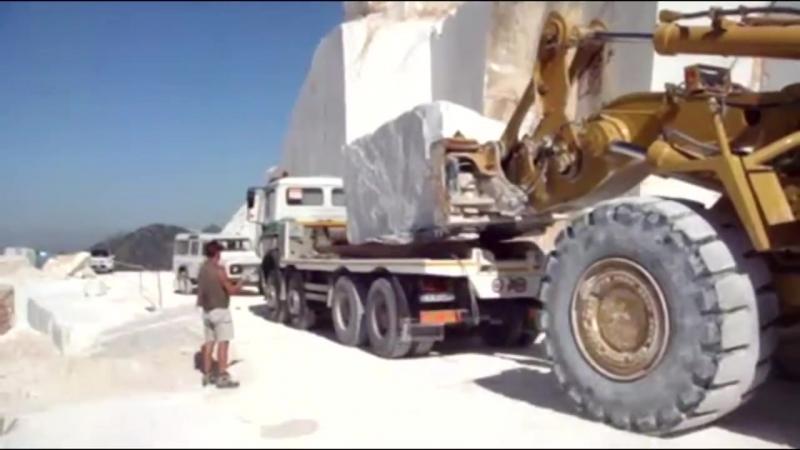 Hell Work Intelligent Technology Marble Mining Mega Machines Excavator Loader Dozer Tractor Dumper