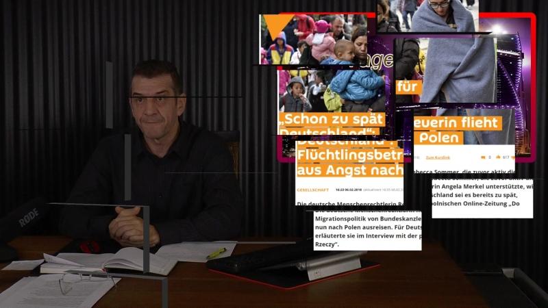 Aktive Migranten Flutungs Unterstützerin von Angela Merkel flieht nun aus Angst vor Muslimen nach Polen Kein Spass