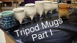 Frost porcelain Soft slab Tripod Mugs Part 1 Pottery 1