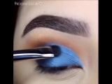 Идея макияжа в синих тонах