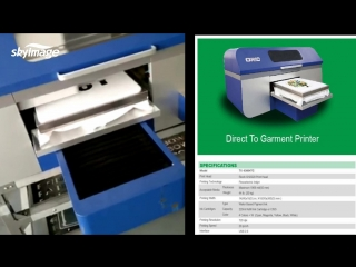 oric direct to garment printer printing with pigment ink