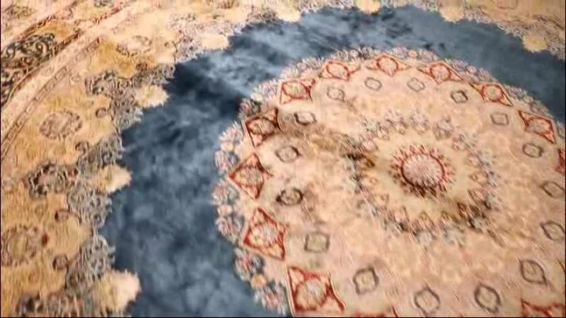 Handmade silk carpet(Коврик ручной работы шелк)