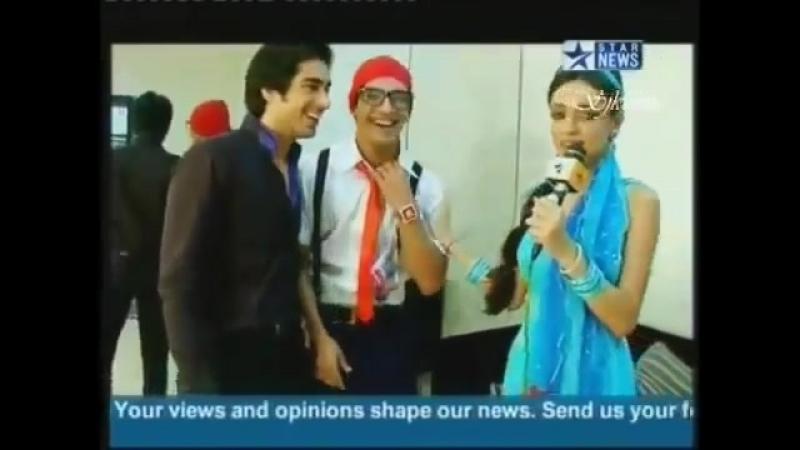 Санайя, Мохит и Арджун за кадром Big Tv Award 2011