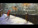 Acrylic Painting Tutorial for Beginners Lamplight Love Speed Painting Voice over Paint with Maz