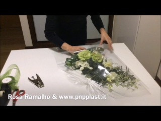 Basic wrapping for flowers - model 2 #wrapflowers