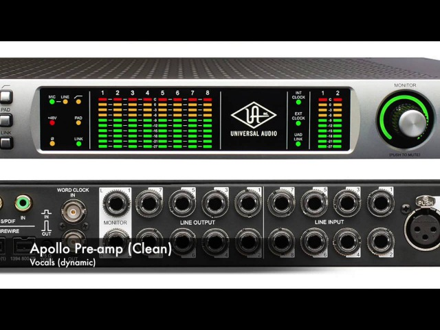 [Universal Audio] Apollo Unison Preamp comparison ( other pre's) on Bass,Guitars,Vocals