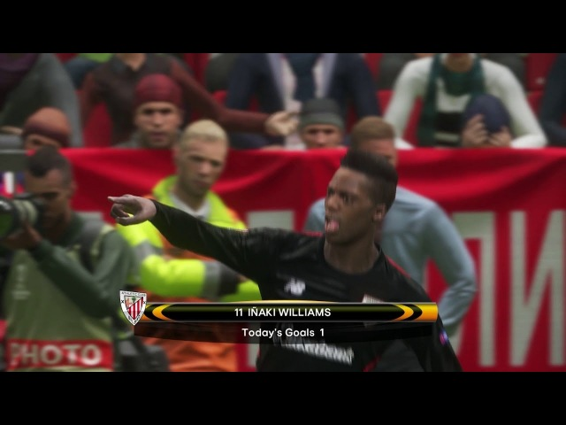 Spartak Moskva vs Athletic Bolbao / UEFA Europa League 2018 / Gameplay PES 2018