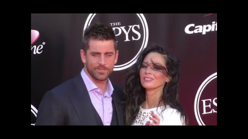 AARON RODGERS and girlfriend OLIVIA MUNN attend ESPY Awards