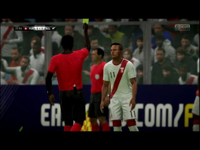 Peru vs Nueva Zelanda Repechaje Rusia 2018 15112017 Estadio Nacional de Lima - FIFA18 BY NICK G
