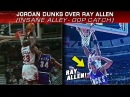 Michael Jordan Alley-oops on Ray Allen w Insane Catch! (1998, RARE)