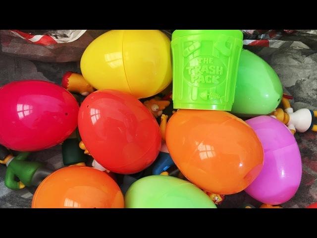 A lot of Surprise Eggs Trash Pack Spongebob Toy Story Buzz Lightyear Pokemon