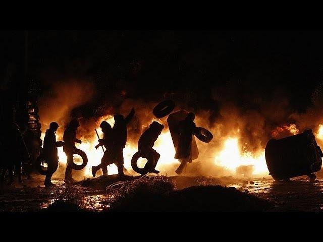 23 января 2014. Киев, Грушевского. Blutige Straßenschlachten in Kiew