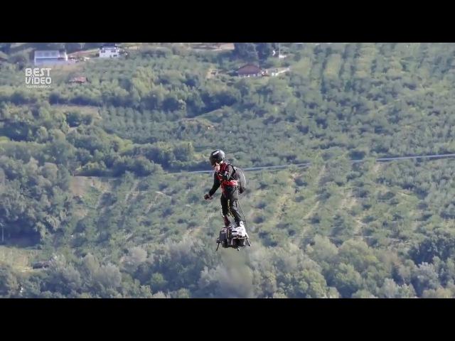 Полет человека на Flyboard Air