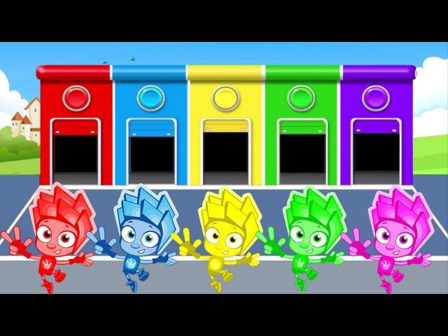 Фиксики новые серии Учим цвета на английском мультик для детей цвета для де
