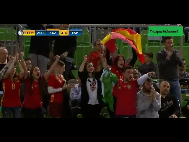 Kazakhstan 4-5 Spain goal Miguelin (Extra time)