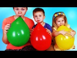 Roma and Diana learn colors with Balloons & Finger Family Nursery Rhymes. Learning Video Compilation
