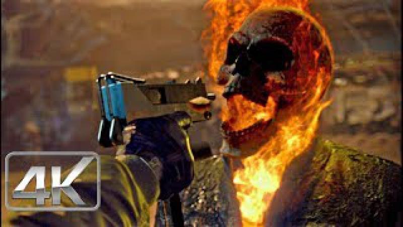 Ghost Rider Escena de la Maquina de Demolición | LATINO (4k-HD) | Ghost Rider: Espíritu de Venganza