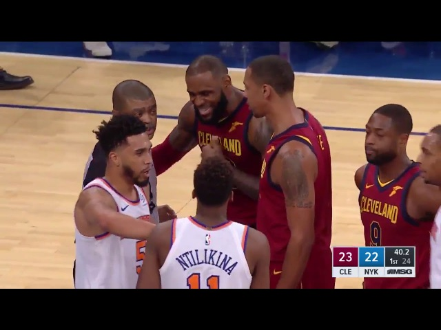LeBron Tries to Fight NY KNICKS!! Frank Ntilikina Enes Kanter vs LeBron!! 11/13/17
