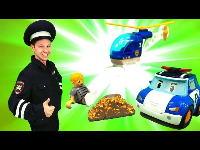 Видео для детей. Веселая школа. Профессия Полицейский с машинками