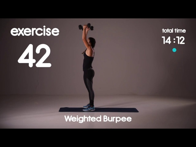 Blast Fat Cardio HIIT Workout with Weights Level 3 Fast Paced Home Workout