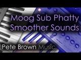 Moog Sub Phatty Smoother Sounds Synth Demo