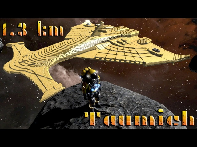 Space Engineers: Warhammer 40k [1.3 km 1:1 scale] Tau Emissary Class Spaceship