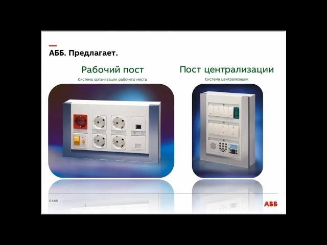Вебинар АББ_Система централизации и система организации рабочих мест АББ.