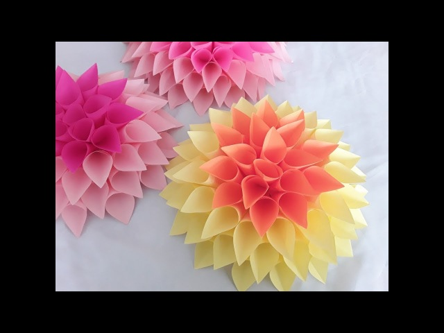 DIY Large Paper Dahlia Tutorial