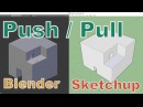 Push/Pull in Blender like in Sketchup addon extrude and reshape