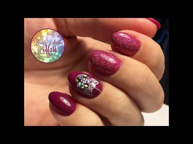 Яркий дизайн ногтей к Новому году! Как нарисовать елочный шарик