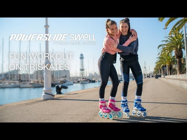 Powerslide Swell Flamingo 125 Royal Blue 100 Fitness Inline skates - Fun workout on Triskates