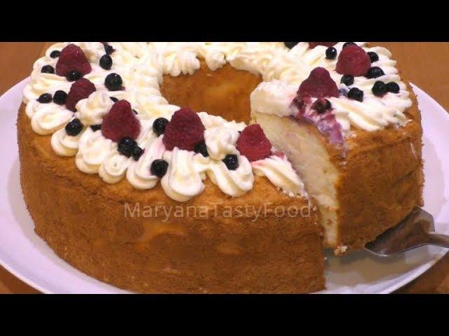 ✧ АНГЕЛЬСКИЙ БИСКВИТ ✧ ПИЩА АНГЕЛОВ [Бисквит на Белках] ✧ Angel Food Cake ✧ Марьяна