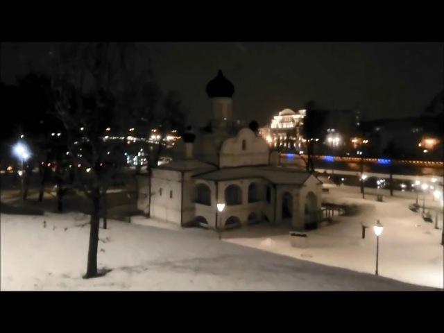 Парк Зарядье зимой. Мокрый снег. Юмор. Вечерняя Москва. Zaryadye park in winter. Humour.