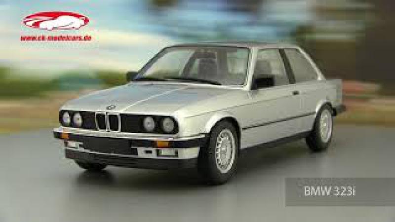 Ck-modelcars-video: BMW 323i Baujahr 1982 silber Minichamps