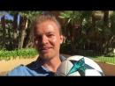 Чемпион Формулы 1 Нико Росберг принял участие в челлендже Роналду