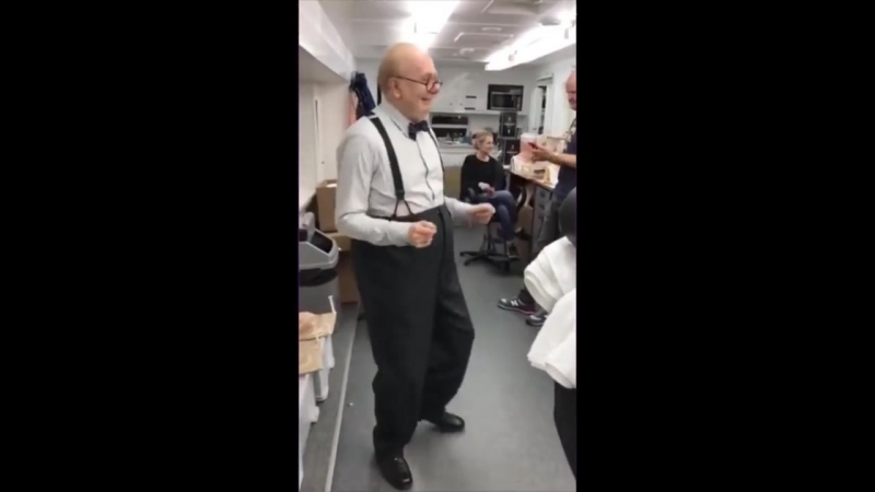 Winston Churchill dancing like James Brown, played by Gary Oldman