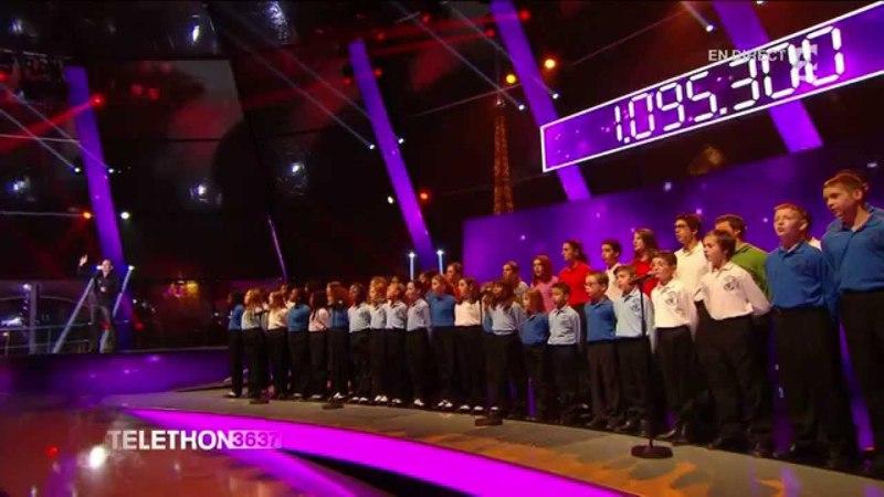 Garou Petit Garçon avec la chorale des Petits Ecoliers Chantants de Bondy