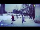 Танцы, зимой на морозе😋