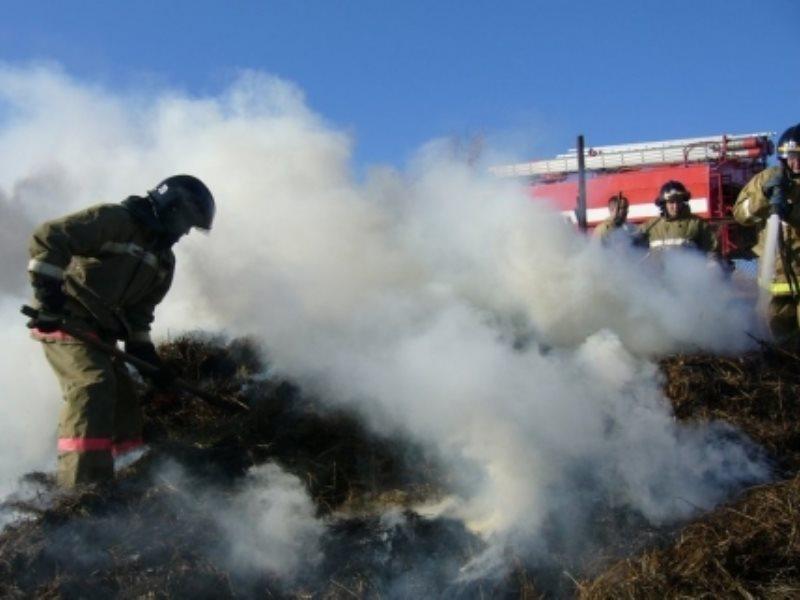 В Кардоникской сгорело 28 рулонов сена